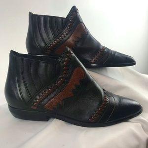 Palomino Leather Western Booties